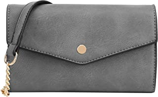 DELUXITY Women's Envelope Clutch Crossbody Wallet