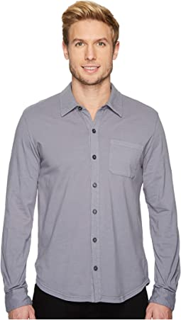 Summerland Knit Long Sleeve Jersey Button Front Shirt