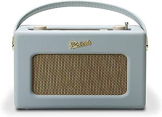 Roberts Radio REV-ISTREAM3DE Retro DAB/DAB+ FM Wireless Portable Digital Bluetooth Radio Alexa Voice Controlled Smart Speaker Revival iStream 3 - Duck Egg