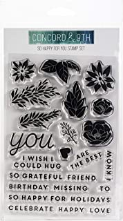 """Concord & 9th Clear Stamps 4""""X6""""-So Happy"""