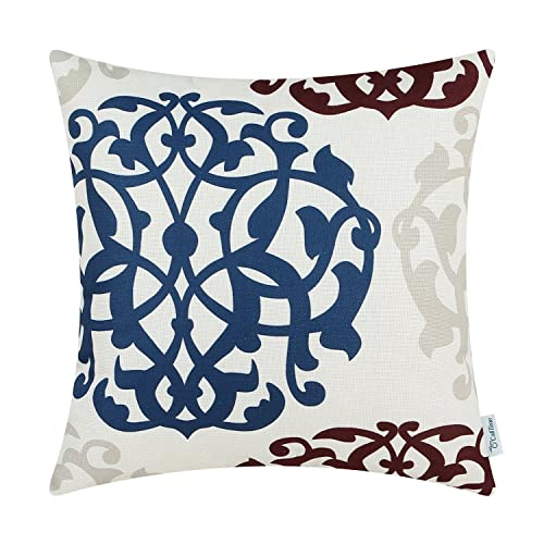 Brown And Blue Decorative Pillows Amazoncom