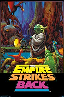 Trends International Neon - Star Wars - Empire Strikes Back Wall Poster, 22.375