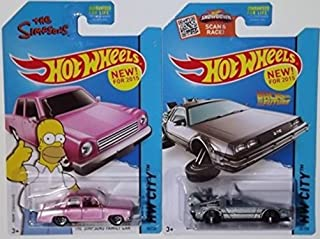 Hot Wheels Simpsons Family Car and Back To Future Delorean Hover Mode
