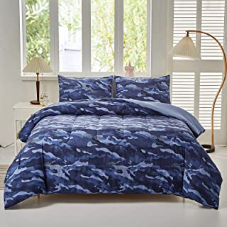 Akkialla Kids Teens Camo Comforter Set with Pillowcase, 2...
