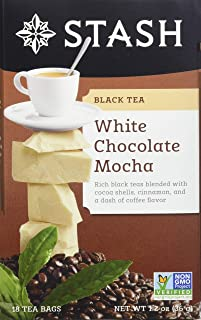 Stash Tea White Chocolate Mocha 18 Count Teabags in Foil (Pack of 6) Individual White Tea Bags for Use in Teapots Mugs or ...