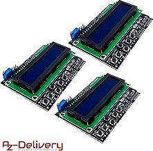 AZDelivery 3 x 1602 LCD Keypad Shield HD44780 1602 Modulo de 2x16 caracteres compatible con Arduino con E-Book incluido!