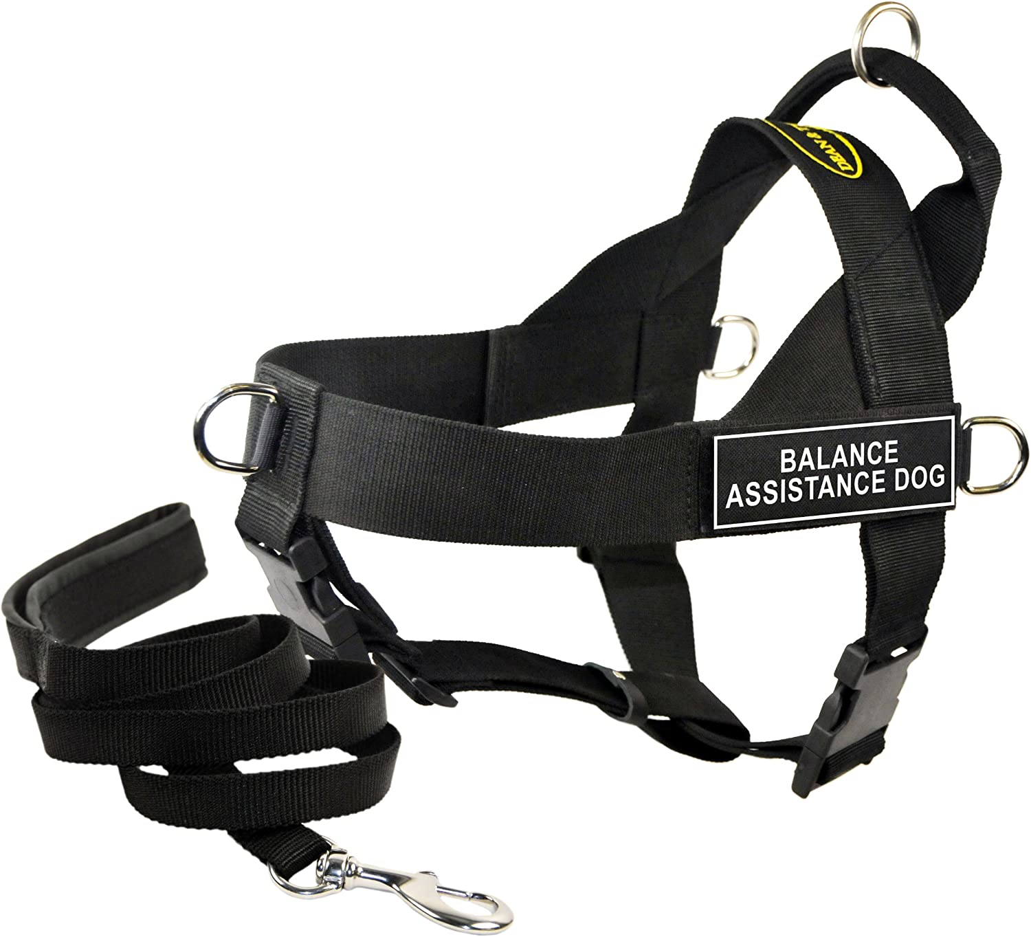 Dean & Tyler's DT Universal BALANCE ASSISTANCE DOG Harness, Small, with 6 ft Padded Puppy Leash.