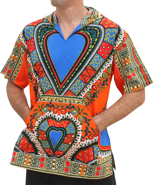 Raan Pah Muang Thin Bright Dashiki Heart Art Windbreaker Hoody Jacket Short Sleeve