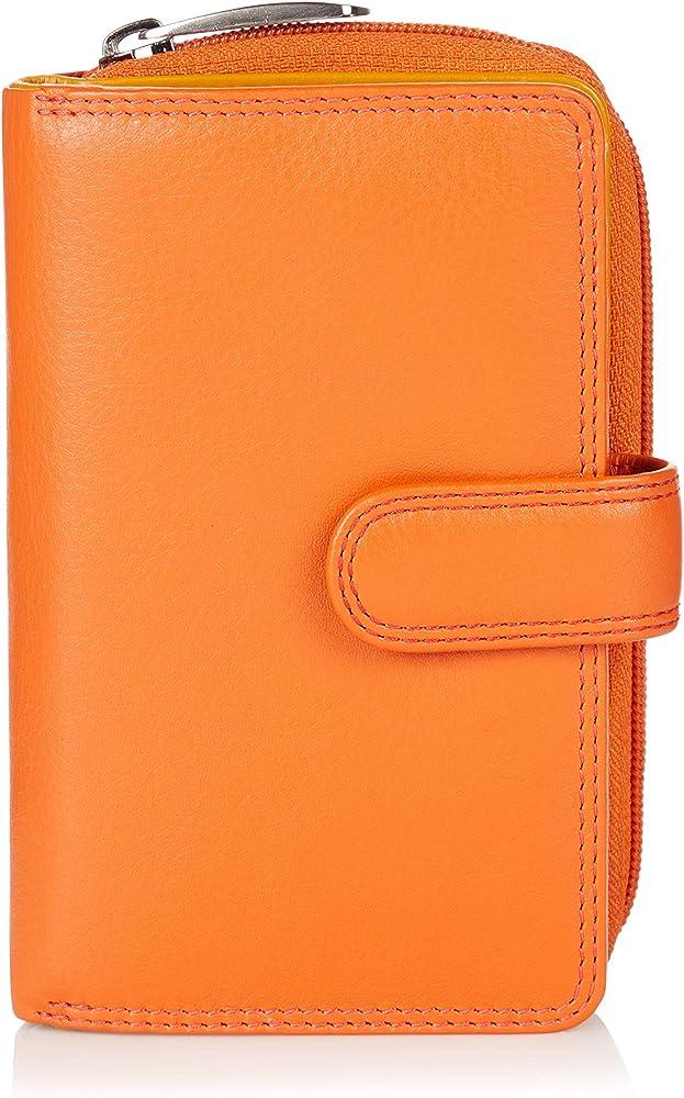 Visconti ® portafoglio porta carte di credito da donna in vera pelle con protezione anticlonazione CD22