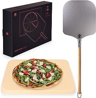Blumtal - Pierre A Pizza - Pierre Refractaire Four - Kit à Pizza Complet - Pierre et Pelle à Pizza - Haute Qualité, Utilis...
