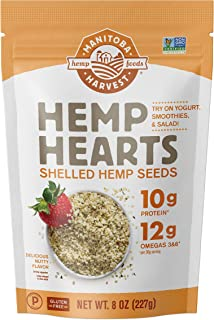 Sponsored Ad - Manitoba Harvest Hemp Hearts Shelled Hemp Seeds, 8oz (Pack of 8); 10g Plant-Based Protein & 12g Omegas per ...