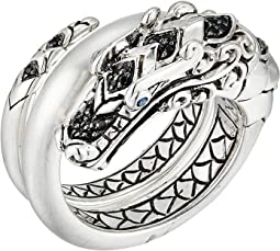 Legends Naga Ring with Black Spinel and Blue Sapphires Eyes