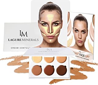 Cream Contour Kit - Premium Contouring Foundation, Highlight & Concealer for Flawless Look