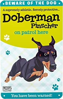 Wags and Whiskers Doberman Pinscher Sign, Large, Multi