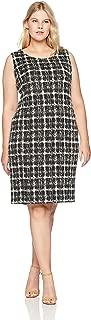 Calvin Klein Women's Plus Size Floral Puff Jacquard Dress