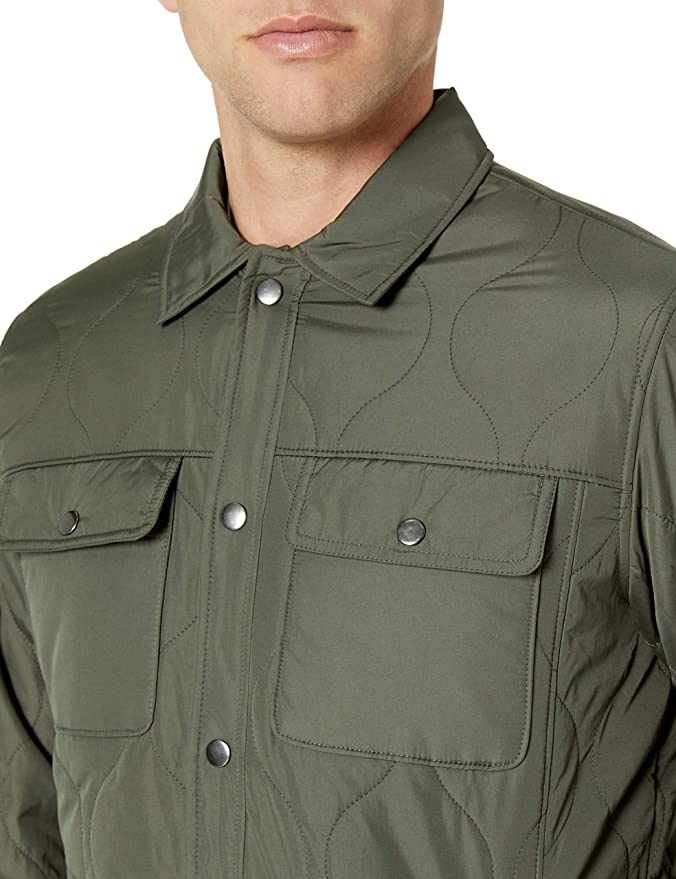 Amazon Essentials Quilted Shirt Jacket Hombre