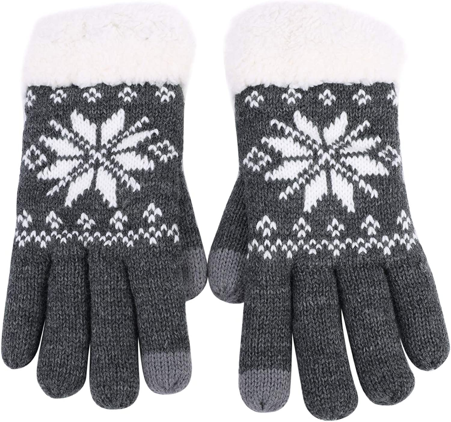Knitted Warm Touchscreen Gloves Winter Lined Driving Cold Texting Outdoor Mitten