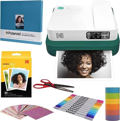 2021 KODAK online Smile Classic Digital Instant Camera with Bluetooth (Green) sale Scrapbook Kit outlet online sale