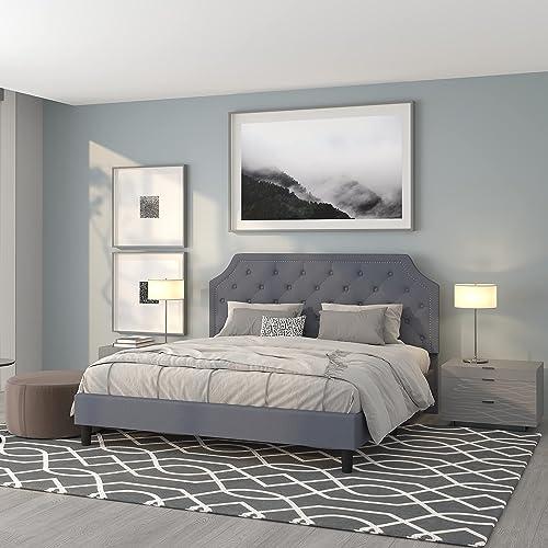 Flash Furniture Brighton King Size Upholstered Platform Bed