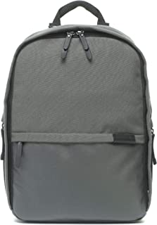Taylor Charcoal Grey Unisex Baby Diaper Backpack by Storksak | Lightweight, Water-Resistant, Large Multi-Functional Anti-Fade Canvas Bag with Leather Trim | Insulated Pockets, Ergonomic Padded Straps