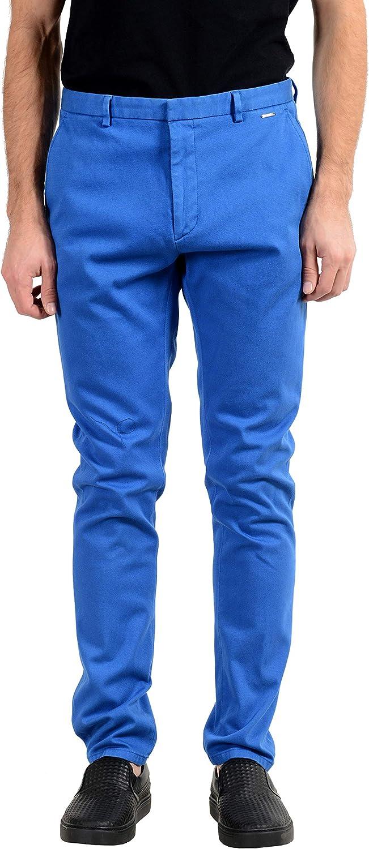 Hugo Boss Glen194D Men's Blue Stretch Casual Pants US 32 IT 48