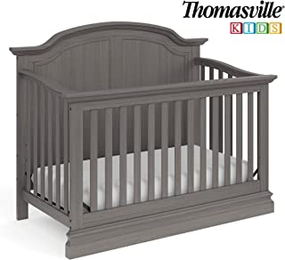 Thomasville Kids Wellington 4-in-1 Convertible Crib (Vintage Slate Gray) – Converts to Toddler Bed, Daybed or Full-Size Bed, 3-Position Adjustable Mattress Support Base