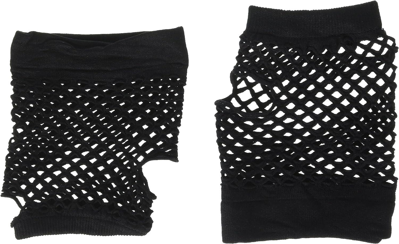 Forum Novelties Short Black 80s Fishnet Mesh Gloves Fingerless Lolita Retro Women Punk Glovelet