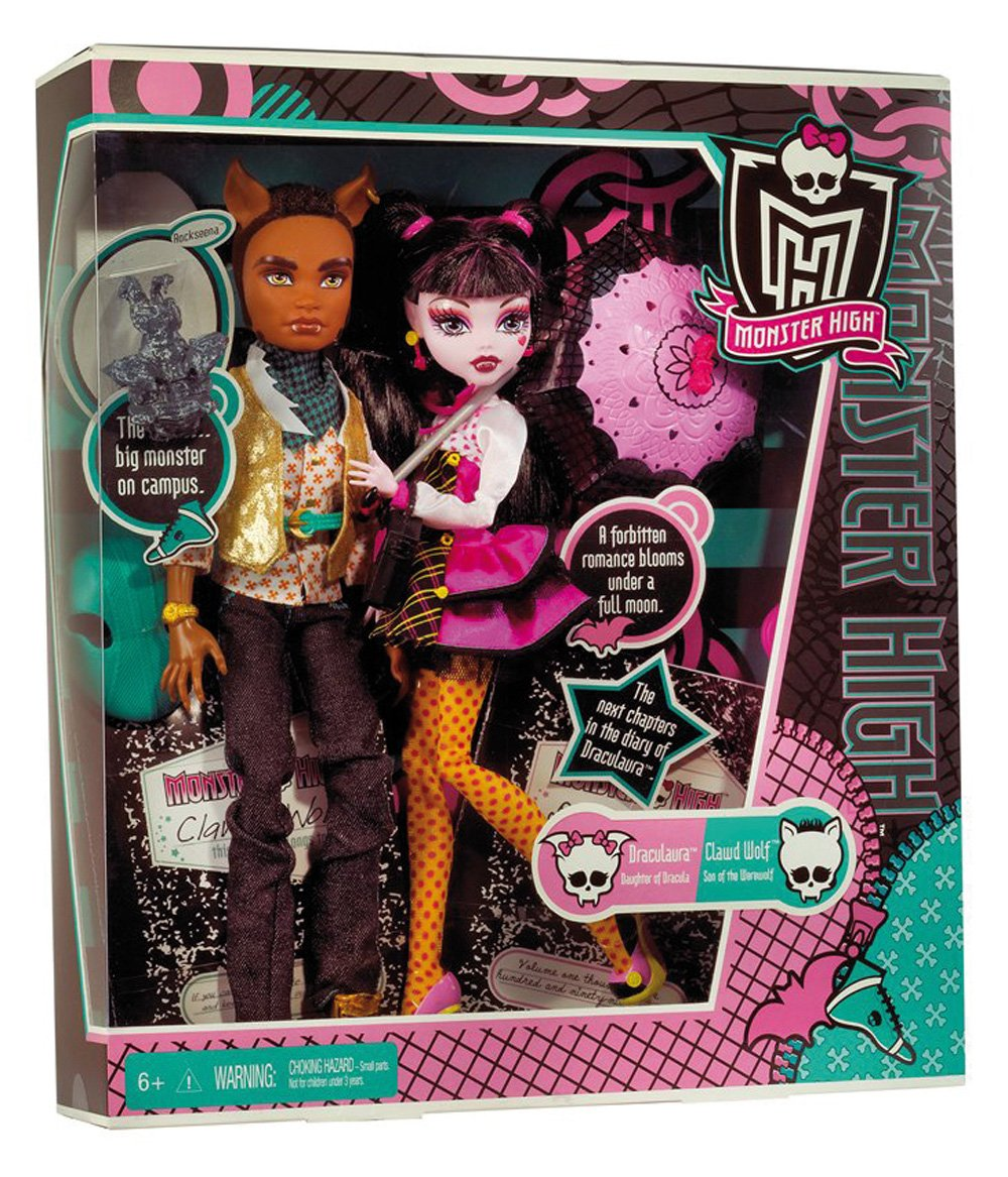 Amazon.es: Monster High - Draculaura y Clawd Wolf, Accesorios para ...