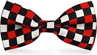cravateSlim Noeud Papillon Rouge et Blanc /à Damiers