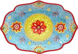 Certified International 22459 Tunisian Sunset Oval Platter, 16