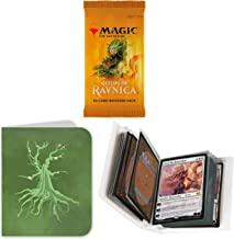Totem World 1 Booster Pack of Magic The Gathering Guilds of Ravnica with a Totem Forest Mana Symbol Mini Binder Collectors Album - One Pack for Booster Draft Lot Bundle