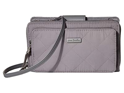 Vera Bradley Performance Twill RFID Deluxe All Together Crossbody (Tranquil Gray) Bags