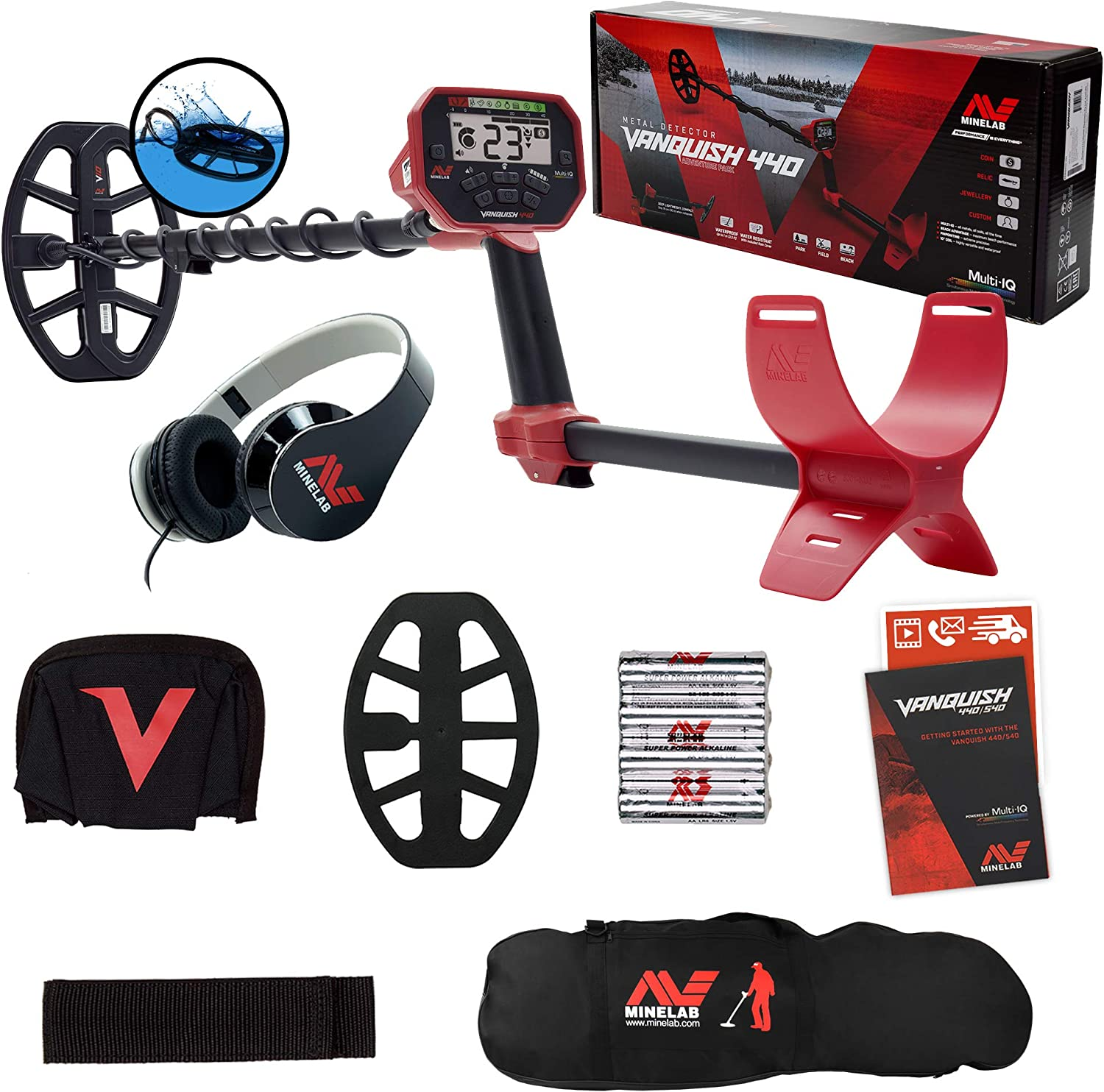 Minelab Vanquish 440 Direct sale of manufacturer Metal High quality new Detector with 7 Waterproof 10 x Co DD