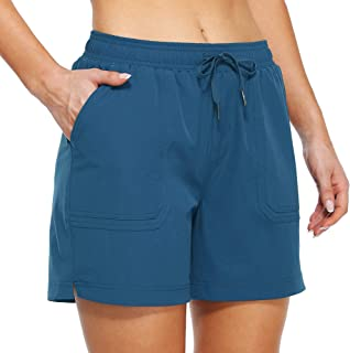 """Willit Women's 5"""" Hiking Shorts Active Golf Outdoor Shorts Workout Summer Water Shorts with Pockets Water Resistant"""