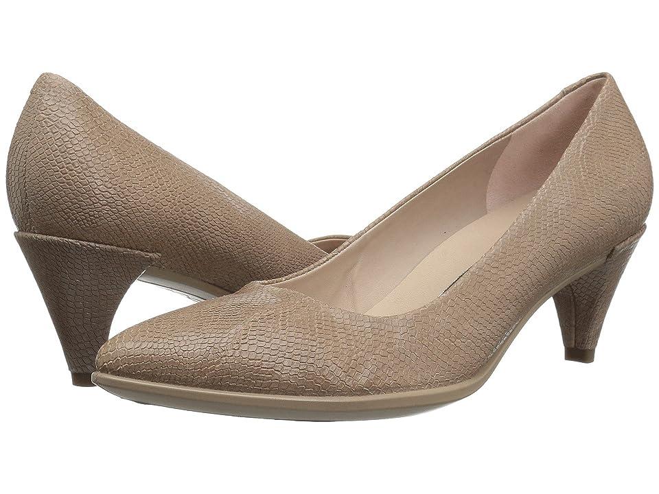 UPC 809704506043 product image for ECCO Shape 45 Sleek Pump (Dune Cow Nubuck) Women's 1-2 inch heel Shoes | upcitemdb.com