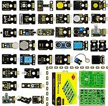 KEYESTUDIO 37 in 1 Sensor V2.0 Kit for Arduino+Tutorial, Upgraded Sensor kit with Traffic light module, Capacitive touch module, Ball Tilt switch sensor, Temperature and Humidity Sensor, Ceramic vibra