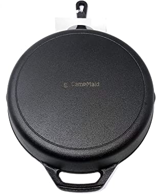 "CampMaid 10"" Pre-Seasoned Cast Iron Skillet"