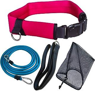 UCEDER Swim Tether Stationary Swimming,Swim Resistance Belt, Swim Bungee Training Belt, Pool Swim Trainer Belt Harness,Gre...