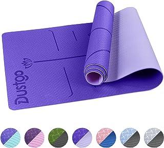 comprar comparacion Dustgo Esterilla Yoga Colchoneta de Yoga Antideslizante con Material ecológico TPE con líneas corporales Yoga Mat diseñado...