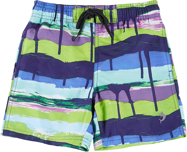 Reel Legends Big Boys Drippin Shorts X-Large (18) Blue Multi
