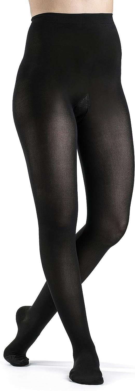 (Small Short, Black)  Sigvaris Soft Opaque Pantyhose 3040mmHg Women's Closed Toe Short Length, Small Short, Black