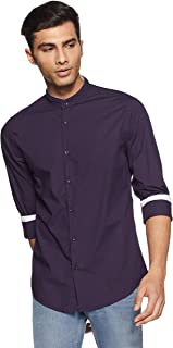 DIVERSE Men's Solid Regular Fit Casual Shirt