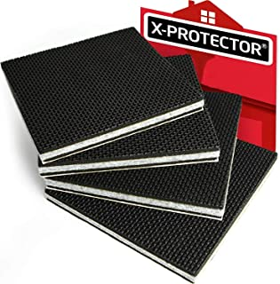 """Non Slip Furniture Pads X-PROTECTOR - Premium 4 pcs 6"""" Furniture Grippers! Big Rubber Feet Hardwood Floor Protectors for Furniture Legs - Couch Stoppers – Keep Your Furniture in Place Forever!"""