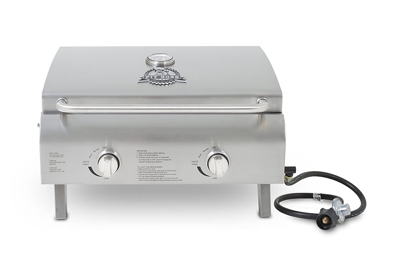 Pit Boss Grills 75275 Stainless Steel Two-Burner Portable Grill peuyfpdalyoy0
