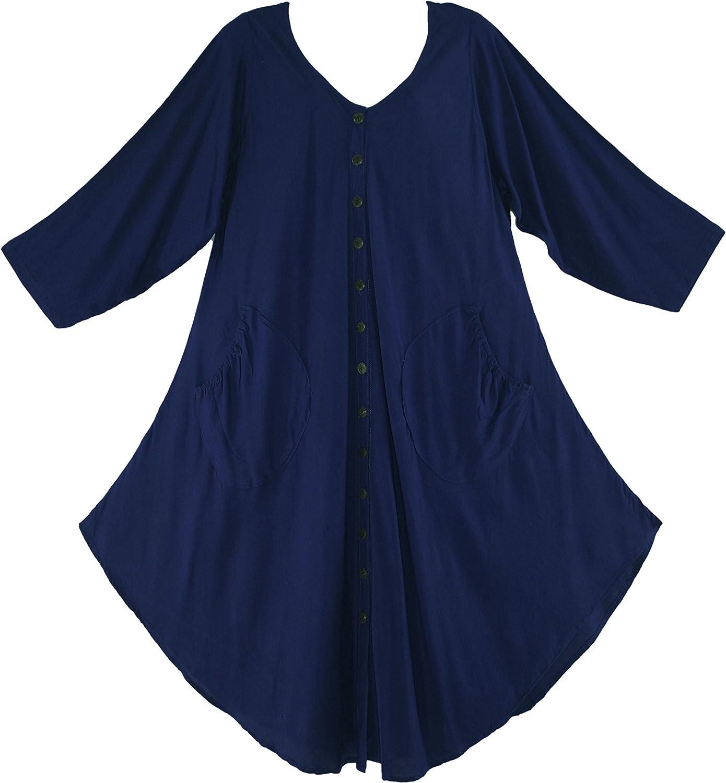 Beautybatik Lagenlook Short Sleeve Vest Tunic Top 18W 1X