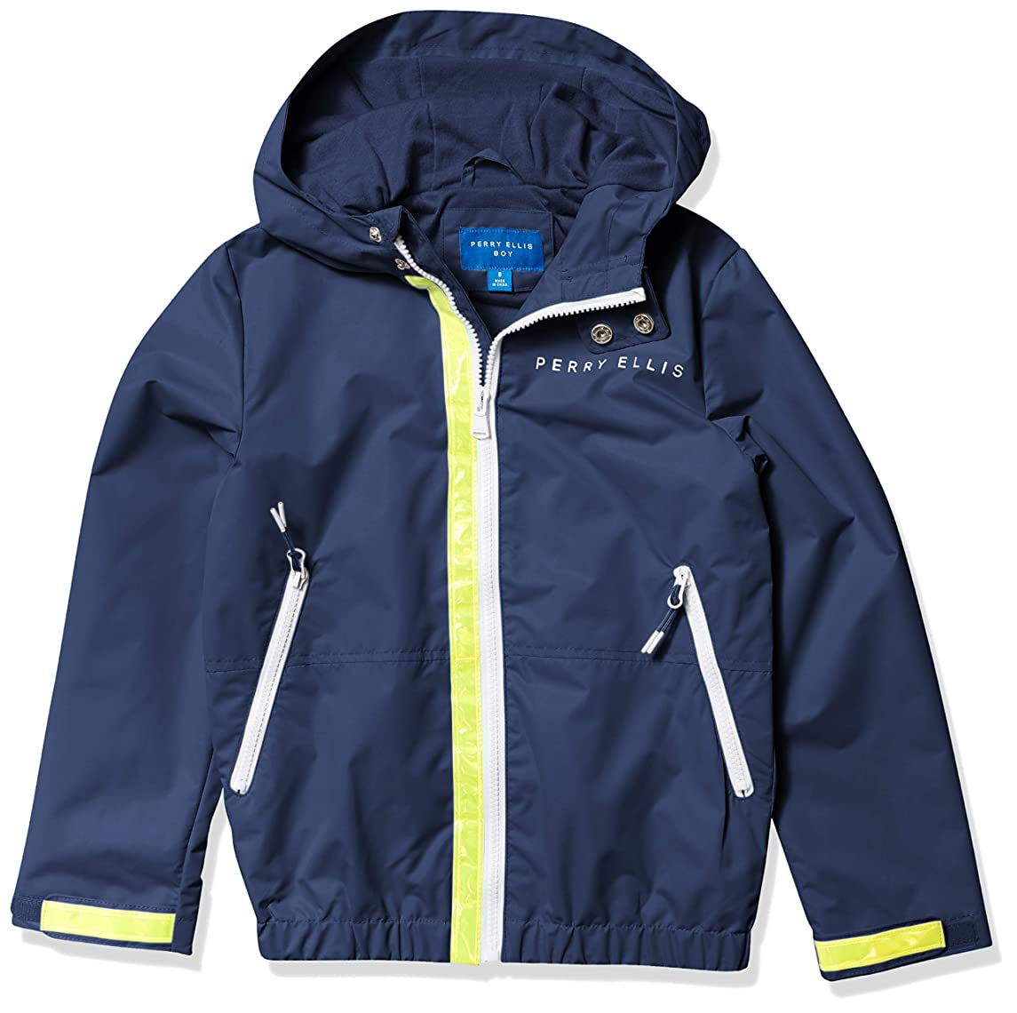 種をまく彫刻知るPerry Ellis Boys Hooded Bomber Jacket with Fleece Lining
