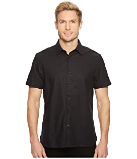 Short Sleeve Solid Slub Texture Shirt