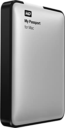 WD 1TB Silver My Passport for Mac Portable  External Hard...