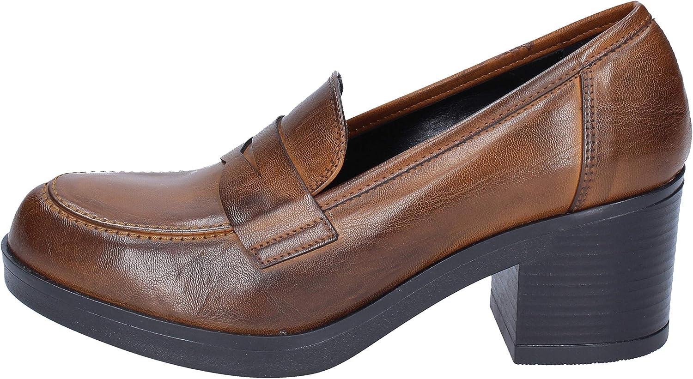 OLGA RUBINI Loafers-shoes Womens Brown