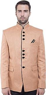 WINTAGE Men's Rayon Cotton Bandhgala Festive Nehru Mandarin Blazer -20 Colors